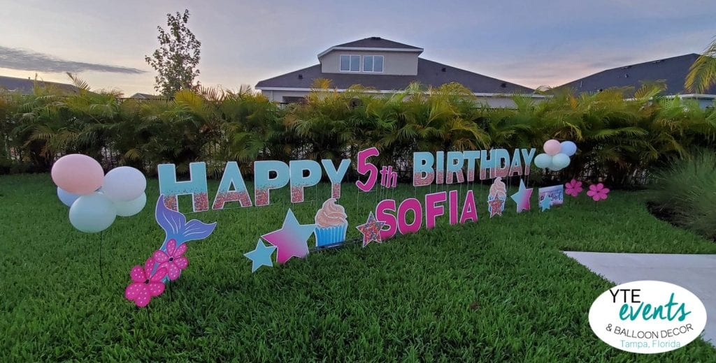 Happy Birthday Sofia 5th Birthday Party Yard Sign