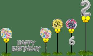 Happy Birthday Yard Display Samples For Tampa Florida Website