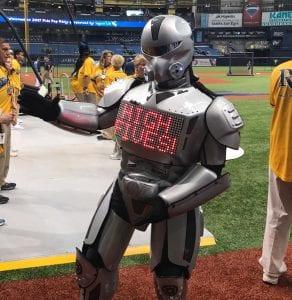 Tampa high five robot