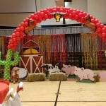 barn cactus balloon arch with boots