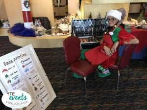 Holiday Face Painting Fun at St Pete Yacht CLub