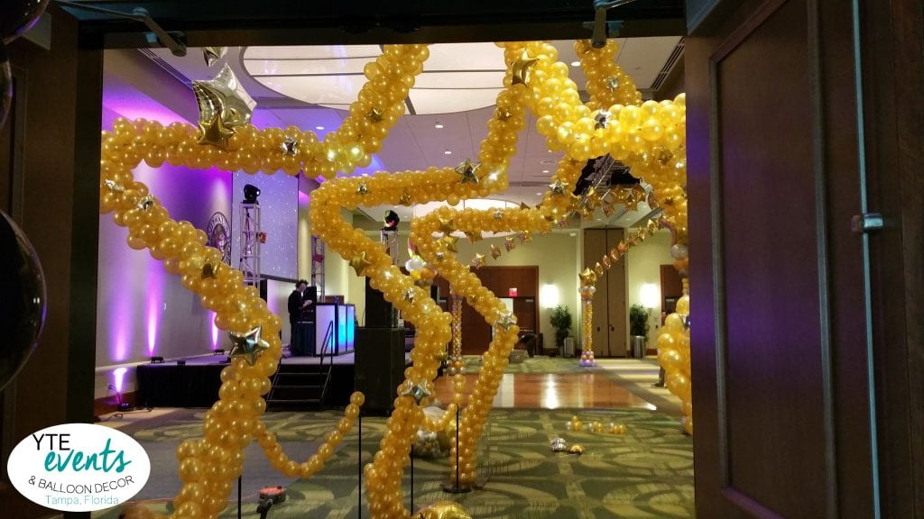 Hollywood star dance floor entrance for school event