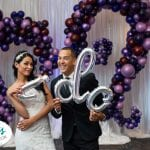 I Do photo Backdrop Arch for Tampa Wedding