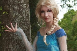 Ice Princess for hire at birthday parties in Tampa