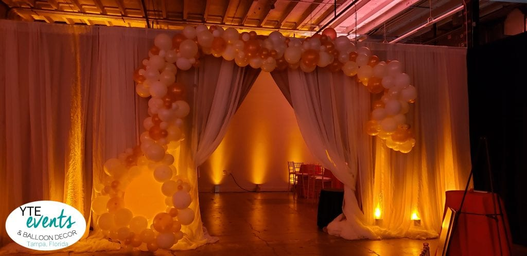 Indoor Elegance Balloon Decorations VIP area