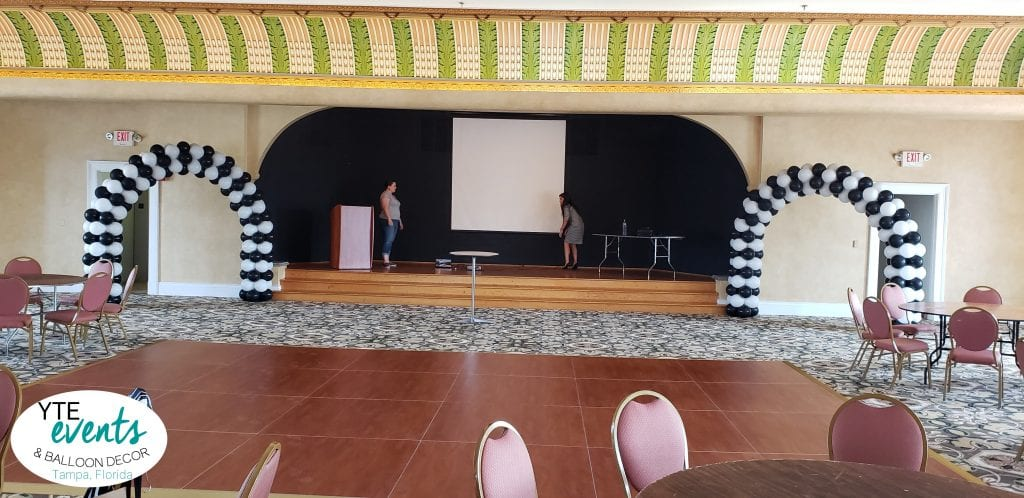 Italian Club Tampa Balloon Decor for stage event