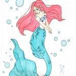 mermaid character drawing