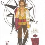 DnD character pirate drawing conception commision