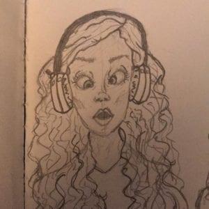 Pencil drawing caricature art piece