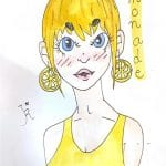 Lemonade portrait drawing character