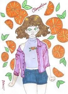 Orange character drawing