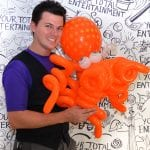 Advanced balloon artist with twisted octopus