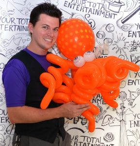 Advanced balloon artist tampa with twisted octopus