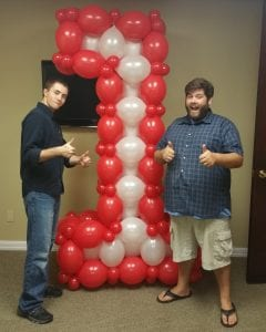 Number 1 sculpture balloon decor piece delivered for hospital in Tampa