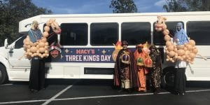 Macy's Three Kings Event with Balloon Stilt Walking Entertainment