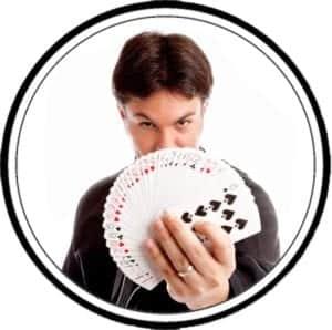 Magician Performing a Card trick