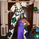 Mardi Gras Costume Stilts Entertainer