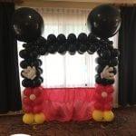 Mickey Mouse theme balloon photo frame for child's birthday