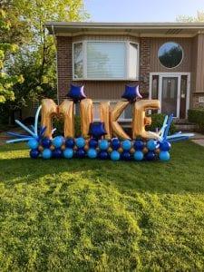 Dave turns 40 balloon display anchor sculpture decor