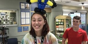 Minion Balloon Animal Headband at Publix for Boars Head Customer Appreciation Event in Tampa, Florida