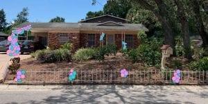 Mock Up Organic home entrance decor and driveby celebrations