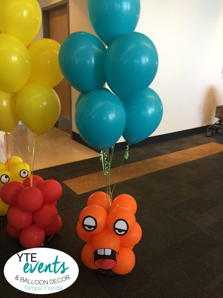 Monster Balloon Bouquet and Centerpieces