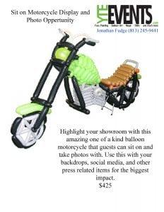 Motorcycle Sit on Photo Opp