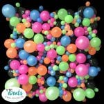 Neon Balloon Wall Organic design