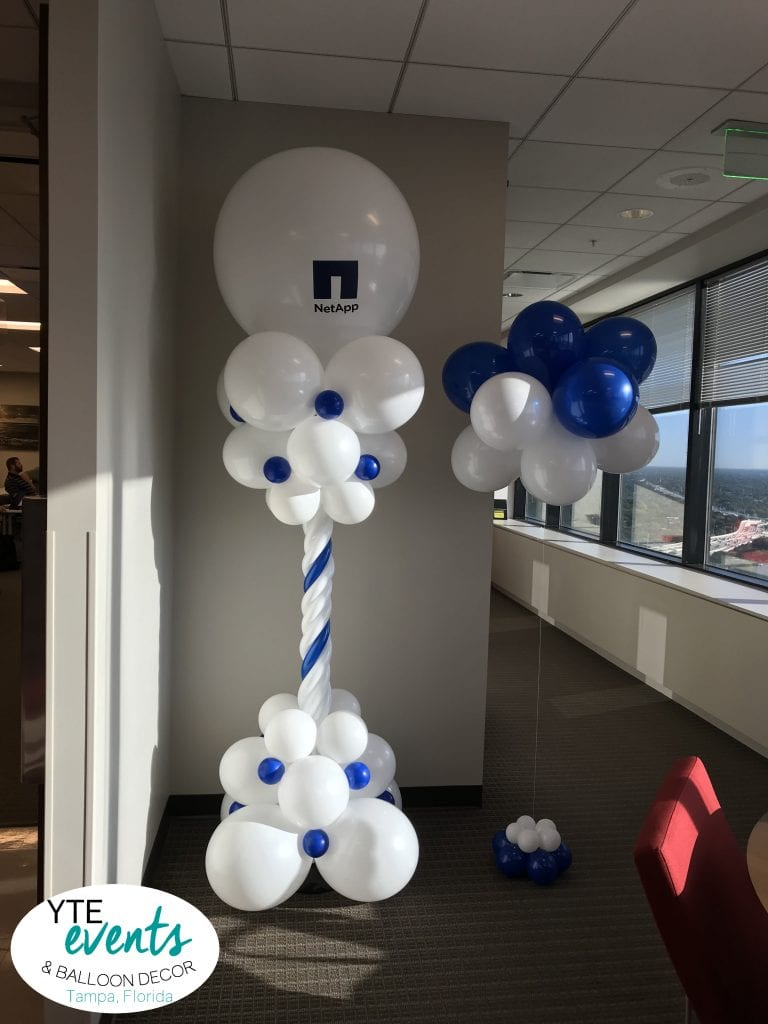 NetApp Balloon Decorations for Corporate Office