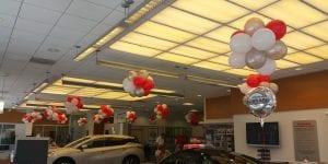 Nissan Car Dealership Balloon Decor for Ceiling