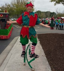 jumping stilts for parade for christmas event land o lakes fl