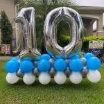 Number 10 balloon yard art marquee display