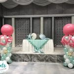 Octopus Themed Balloon Columns and Decorations for Private Event