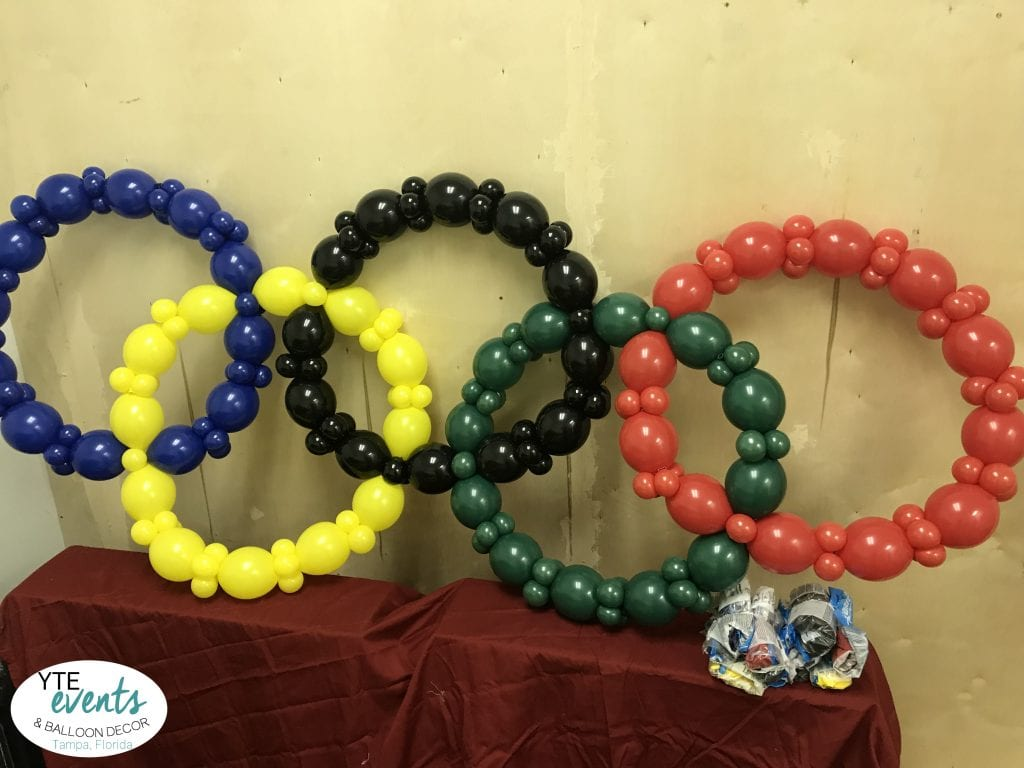 Olympic Balloon Decorations for Event