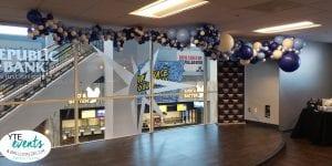 Organic Balloon installation for baseball team in Tampa Rays