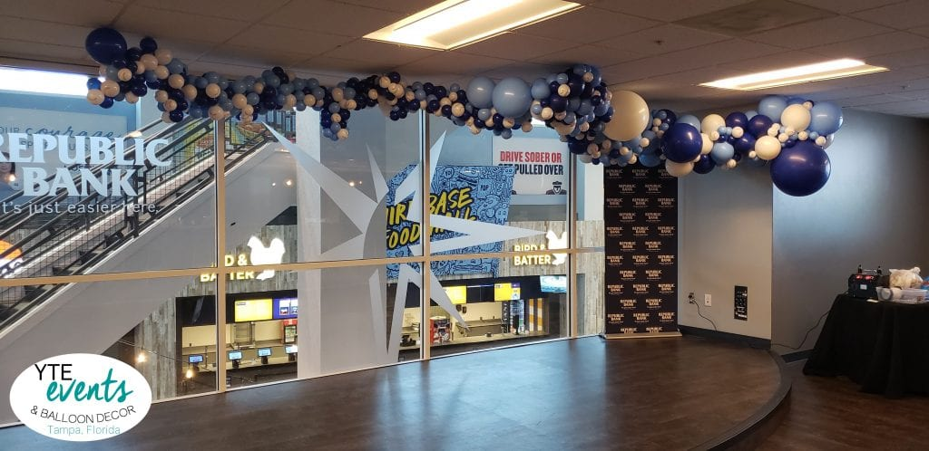 Organic Balloon installation for baseball team in Tampa Rays