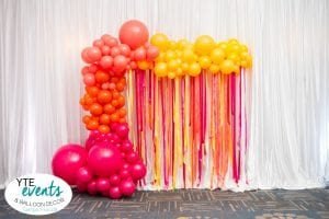 Party Balloon Photo Opp with summer pantone colors