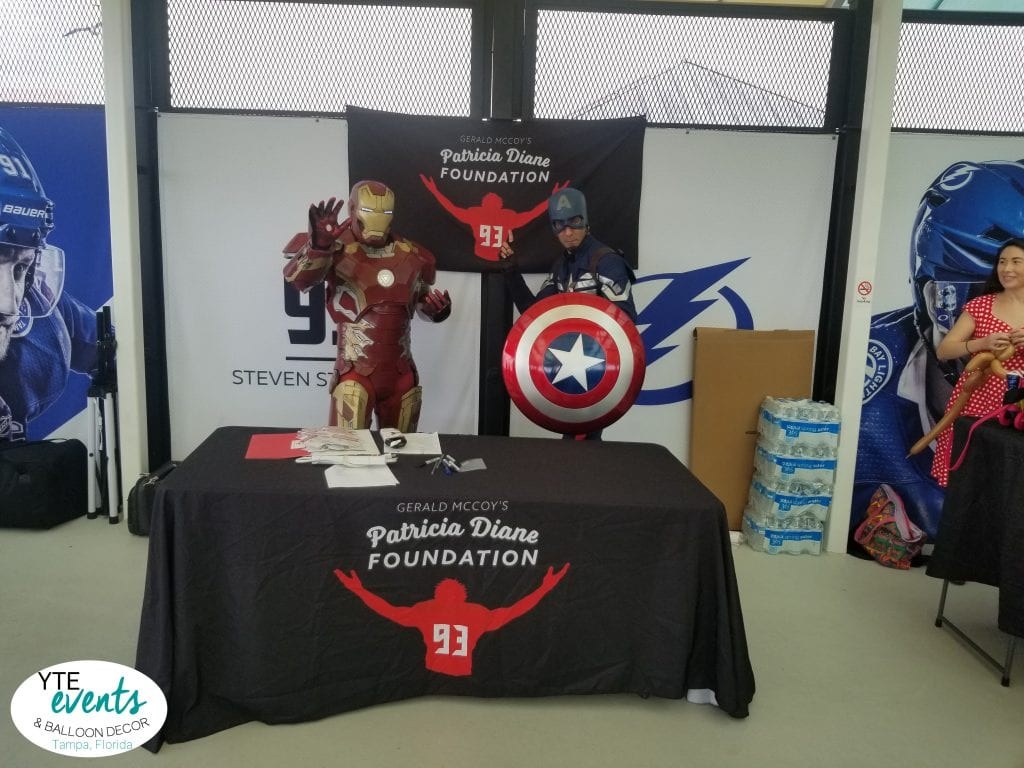 Patricia Diane Foundation entertainment from YTE Events and Balloon Decor Superheroes