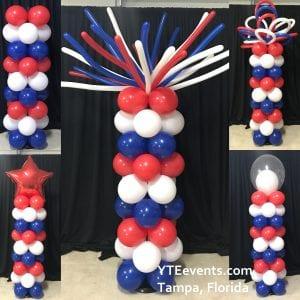 Patriotic Balloon Column Topper Choices YTE