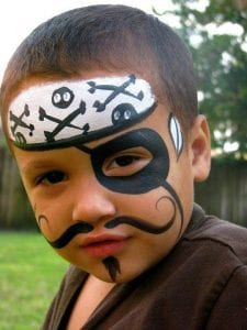 Pirate Face Painting full face for events