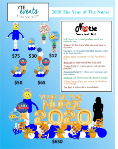 Prices of balloons for nurse week