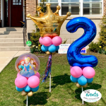 Princess Birthday party for 2 year old delivery with balloons Tampa