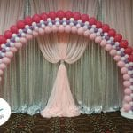 Princess arch photo frame pink and white and purple