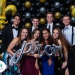 Prom Balloon Decoration and photo backdrops