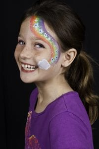cheek painting at events