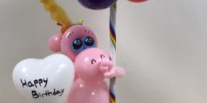 Rainbow Unicorn Birthday Balloon Centerpiece Delivery