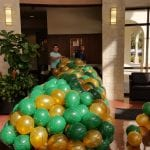 Rigging the balloon drop at USF