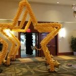 Sculpture for Prom event Balloon Star Arch