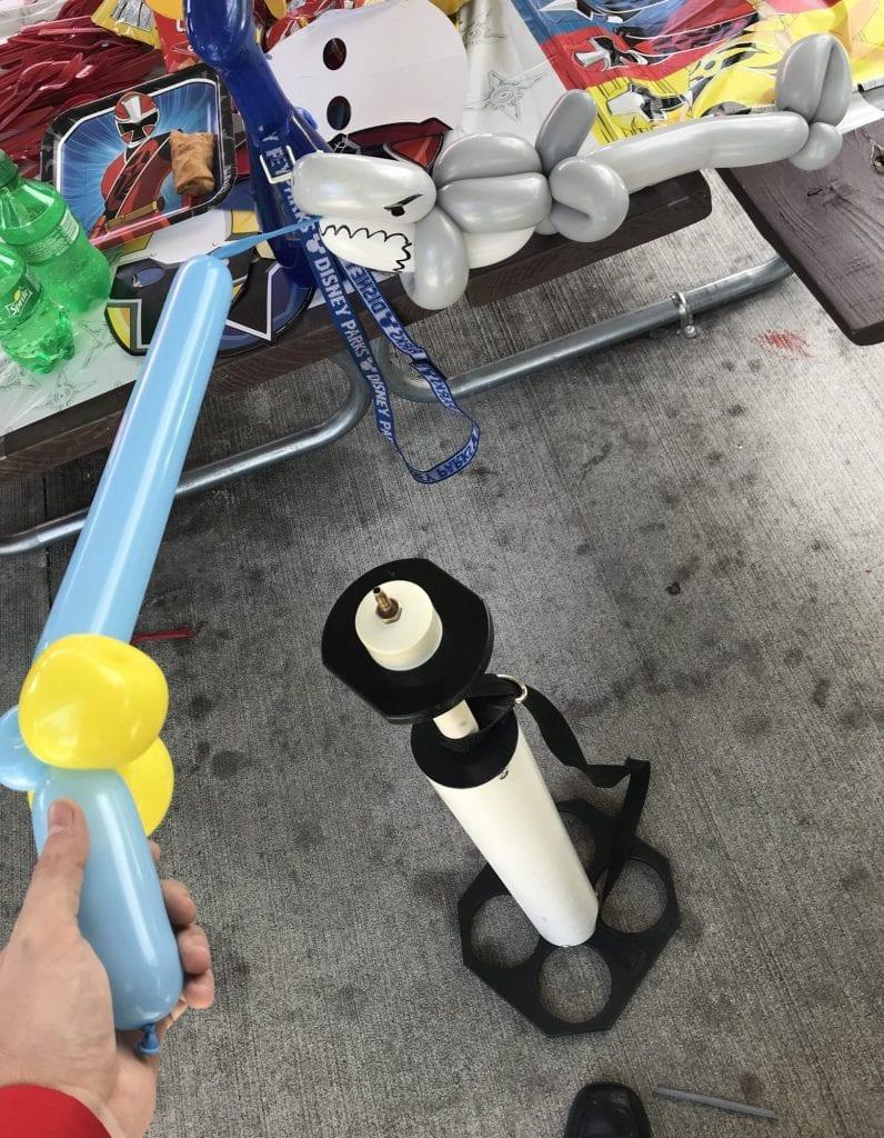 Shark Week Balloon twisting balloon animal for birthday party