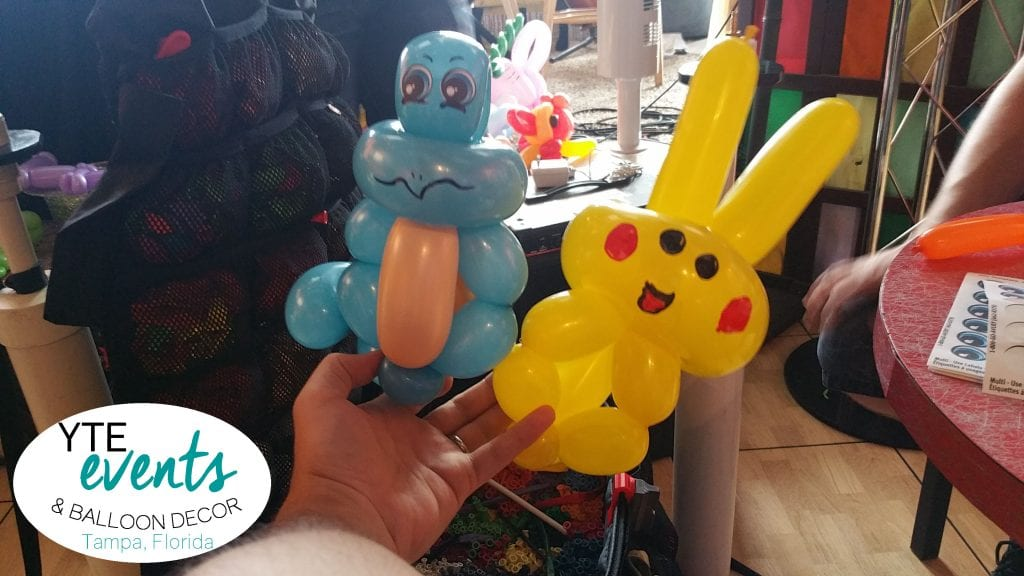 Simple squirtle and pikachu pokemon go figures